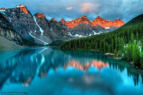 Find Alberta Wallpaper Moraine Lake Banff National Park Alberta Canada Free Desktop
