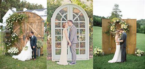 Vintage Boho Home Decor old door wedding backdrop arch ideas deer pearl flowers