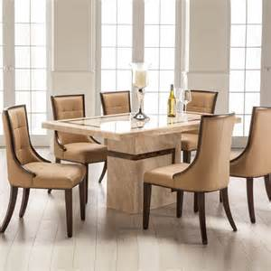 Marble Kitchen Tables And Chairs Venice Marble Dining Table And 6 Chairs