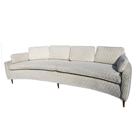 Vintage Curved Sofa Vintage Harvey Probber Style Curved Sofa At 1stdibs