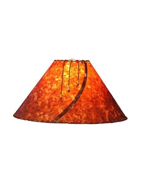 Handmade From Paper - rust clover l shade rustic artistry