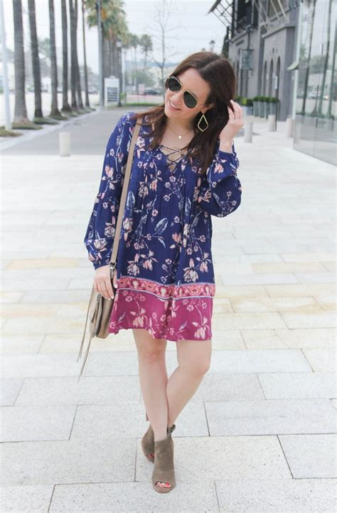 classic boho chic lady of style boho chic style floral swing dress lady in violetlady