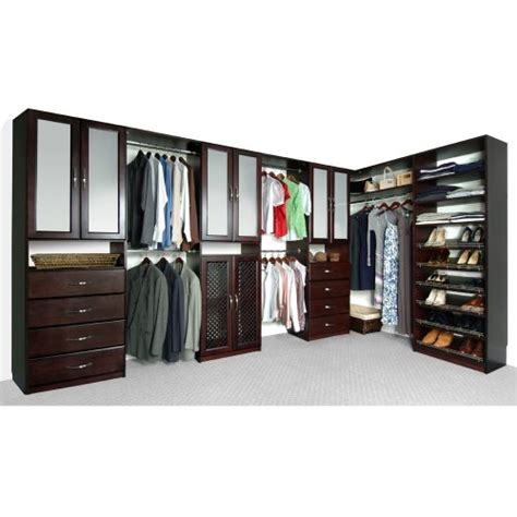 cherry wood closet organizer solid wood closets c16chy 16 inch depth closet organizer
