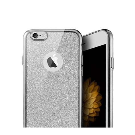 platynowane etui na iphone   silikon slim brokat srebrny platynowane etui