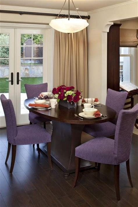 purple dining rooms purple chairs dining room pinterest