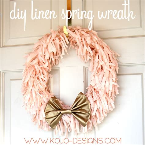 House Plans With Covered Porch Diy Spring Wreath In Pink And Gold