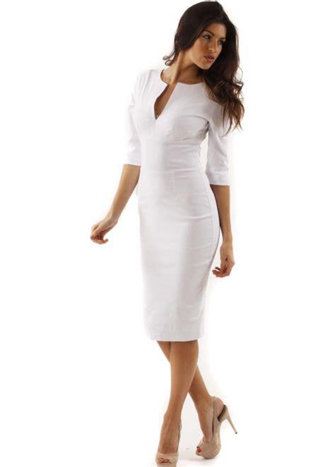 Sleeve White white 3 4 sleeve dress all dresses