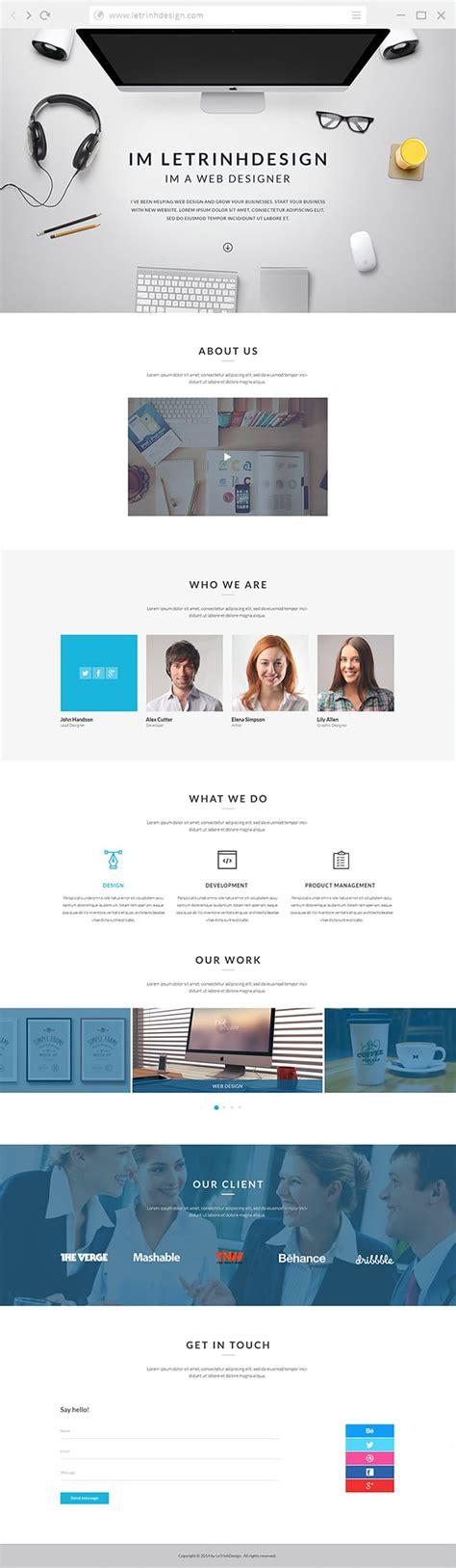 Free Portfolio Website Templates Psd 187 Css Author Portfolio Website Templates