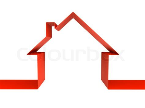 green house symbol 3d rendering isolated on white