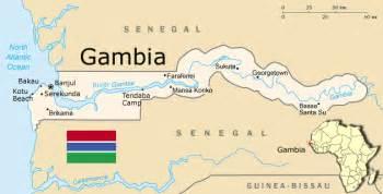 africa map gambia gambia regionen karte