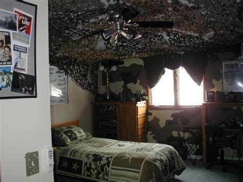 army room pride so what do you think we painted two of the walls camoflauge colors and