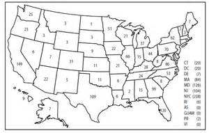 us map with states numbered malaria surveillance united states 2011