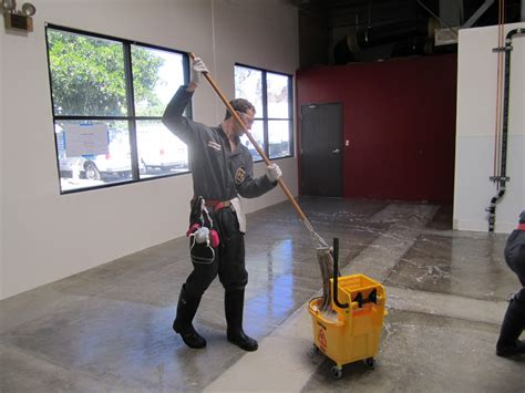 Mopping The Floor by Operation Seal Sealing The Brewery Floor Part 1