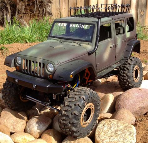 rc jeep wrangler unlimited rc car truck crawler new bright jeep wrangler