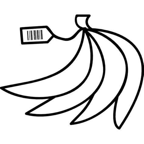 codice a barre alimenti banane con codice a barre sull etichetta scaricare icone