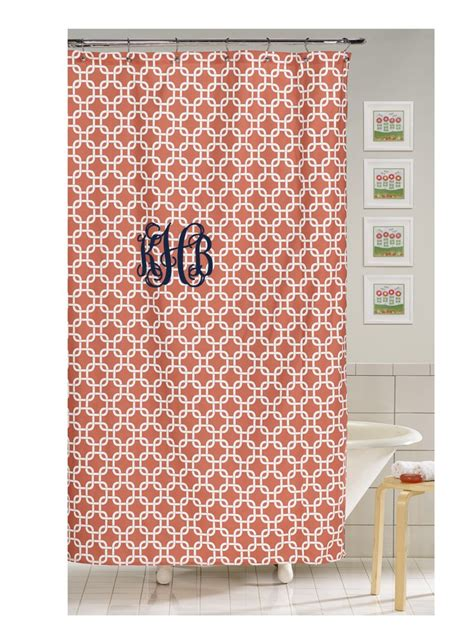 metro shower curtain coral metro shower curtain american made dorm home
