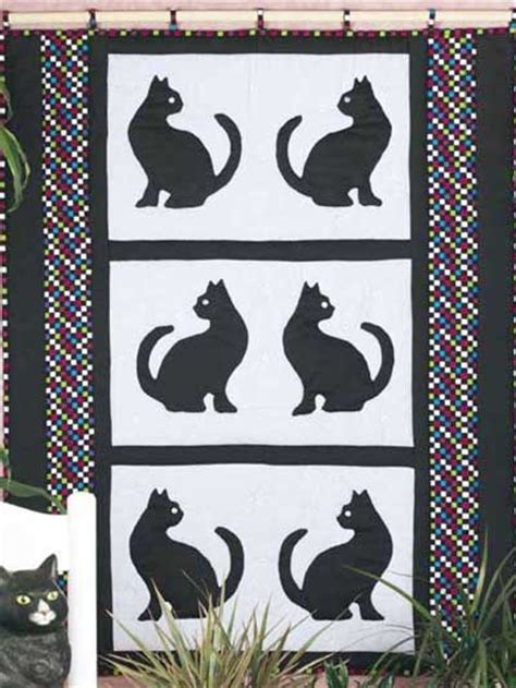 pattern for black cat free wall quilt patterns black cats in silhouette