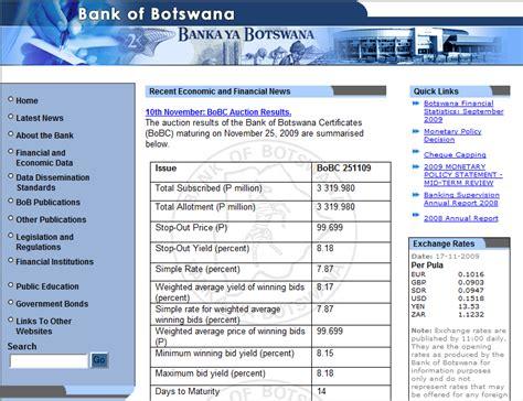 banks in botswana central bank of botswana