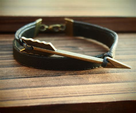 Handmade Mens Leather Bracelets - handmade bracelet for arrow leather bracelet