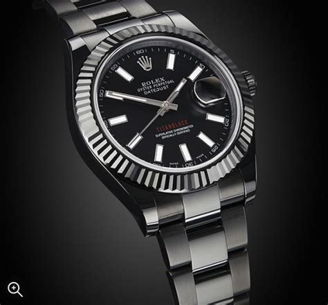 rolex datejust ii heart titan black