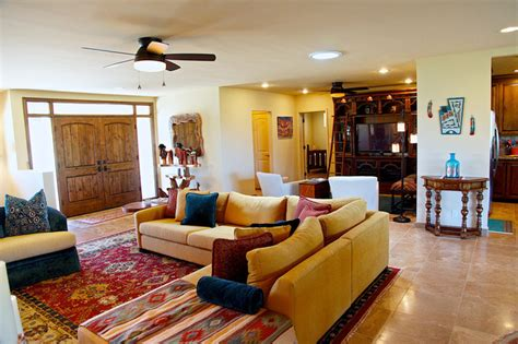 southwestern living rooms southwestern style carefree home rustic living room