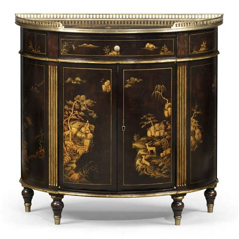 chocolate chinoiserie side cabinet dining  brights  nettlebed