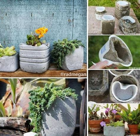 diy concrete molded planters kickstartsaving diy