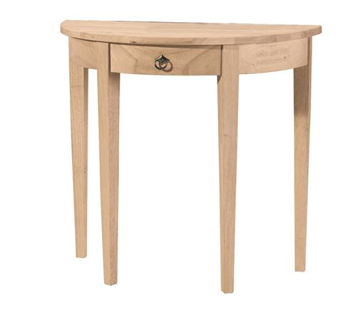 Half Circle Table by Whitewood Half Table With Drawer
