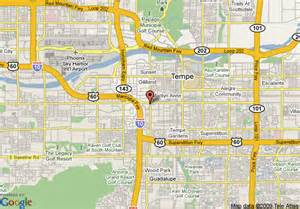us map tempe arizona map of resort conference center tempe