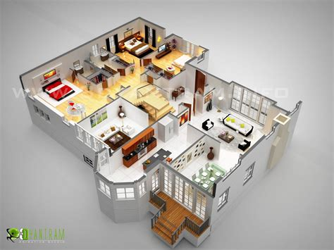 laxurious residential 3d floor plan sims