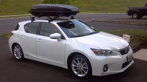 lexus ct200h roof rack my ct with yakima box on top