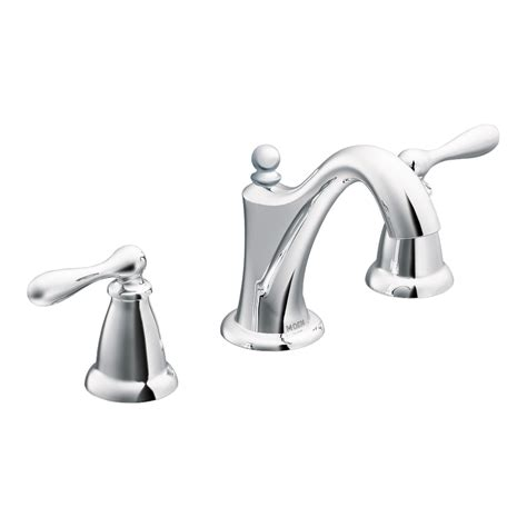 Moen Caldwell Kitchen Faucet Shop Moen Caldwell Chrome 2 Handle Widespread Watersense Bathroom Faucet Drain Included At