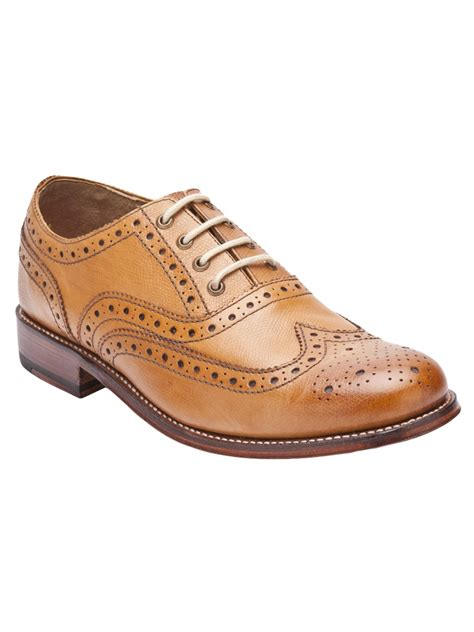 wingtip oxford shoes for grenson william wingtip oxford shoe in brown for
