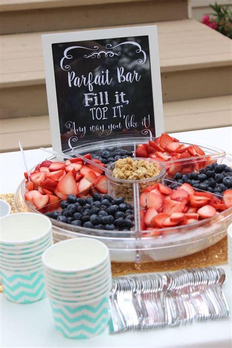 Bar Ideas For Baby Shower by Best 25 Yogurt Parfait Bar Ideas On Birthday