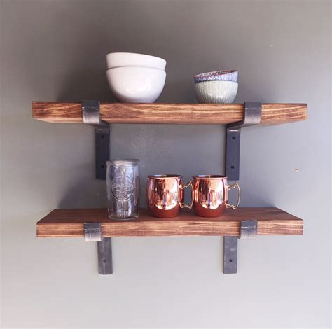 Fixer Upper Style Industrial Floating Shelves 8 Depth Industrial Floating Shelves