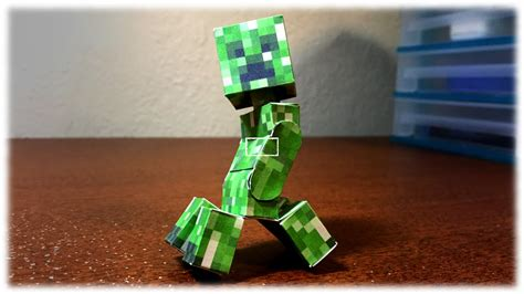 How To Make A Paper Creeper - how to make a bendable creeper minecraft papercraft