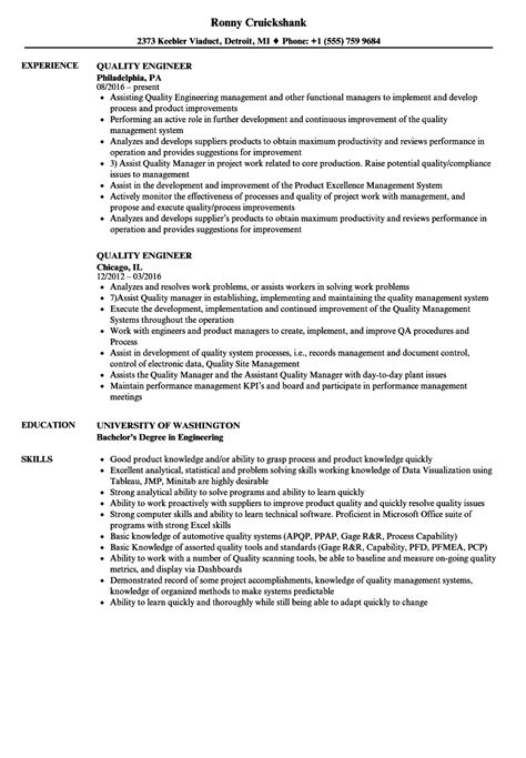 senior quality engineer sample resume uxhandy com