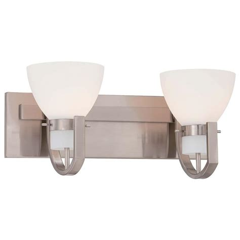 hton bay 2 light brushed nickel bath light 05380 the home depot minka lavery hudson bay 2 light brushed nickel bath light 5382 84 the home depot