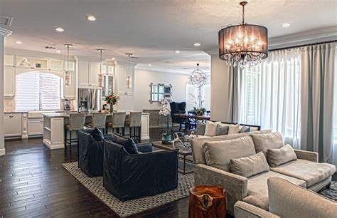 Living Room Dining Room Kitchen Together Inside Style Home Creating Open Spaces That Fit Together