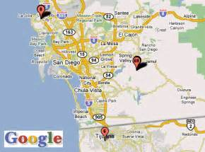 San Diego Area Map by California San Diego Area Images Frompo 1
