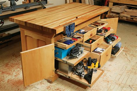 workshop work bench aw extra dream workbench popular woodworking magazine