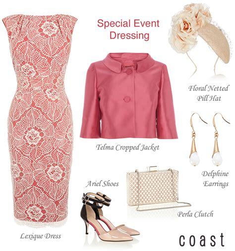 Dress Wanita Original Hgg 3204 coral lace dress pink cropped jacket coast wedding