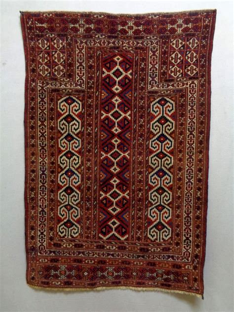 prayer rug size turkmen prayer rug size 86x127cm colors made in circa 1910 there is glue at the edges