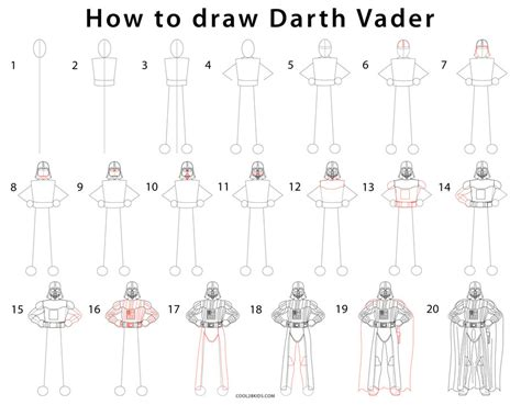How To Make Origami Darth Vader Step By Step - how to draw darth vader step by step pictures cool2bkids