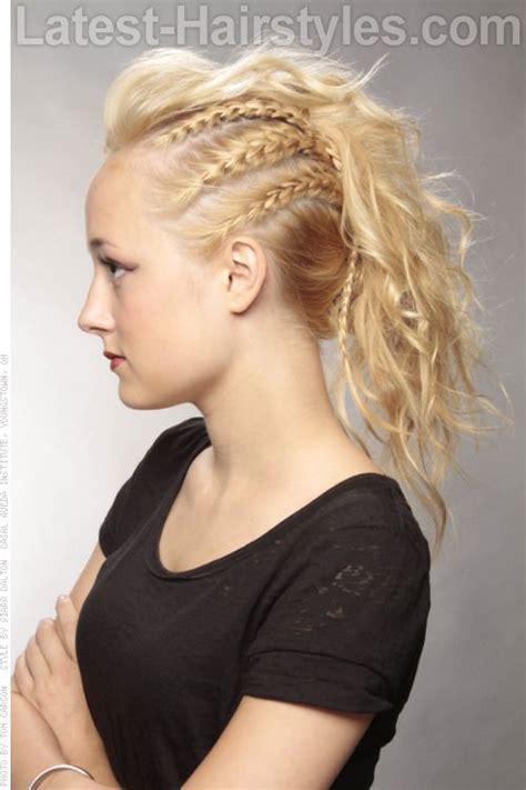 french braids pin up on the sid for black woman mohawks braids and mohawk hairstyles on pinterest