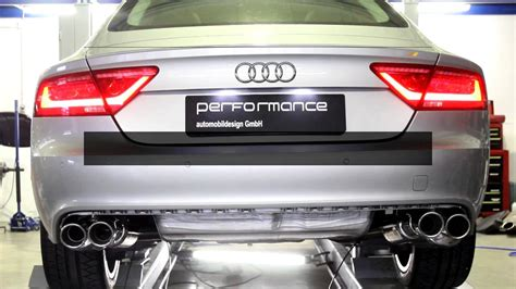 Audi A7 Performance Upgrades by Audi A6 A7 With Performance Flap Exhaust System By