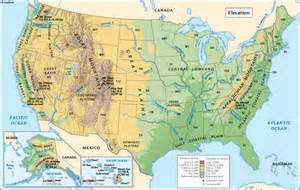 united states elevation map geography maps