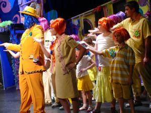 students prepare quot seussical quot for east carteret stage