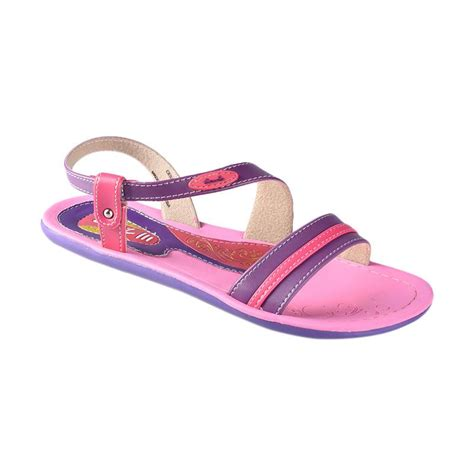 Daftar Sepatu Dan Sandal Carvil jual carvil cesar 03 sandal flat wanita fushia purple