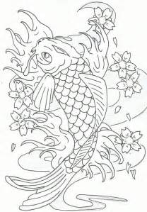 koi fish coloring pages leaping koi fish by heavy metal ink on deviantart